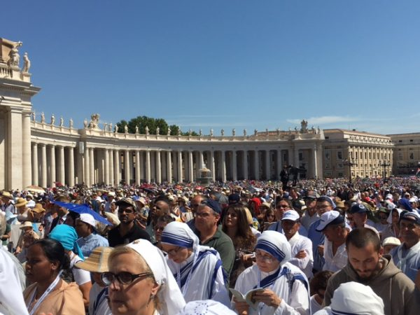 Crowd at Canonization