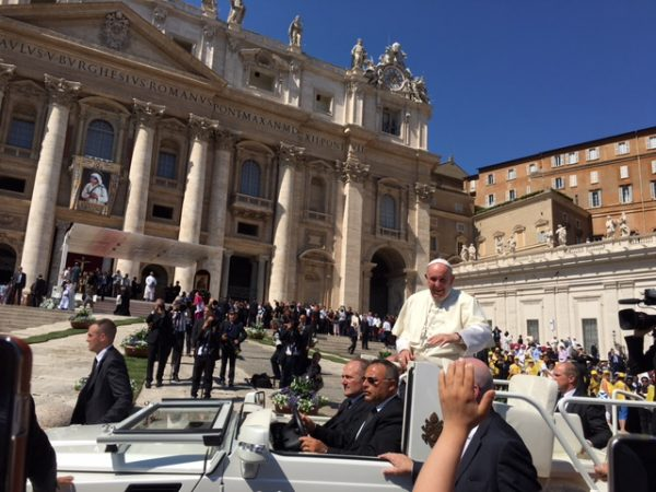 Pope Francis approaches