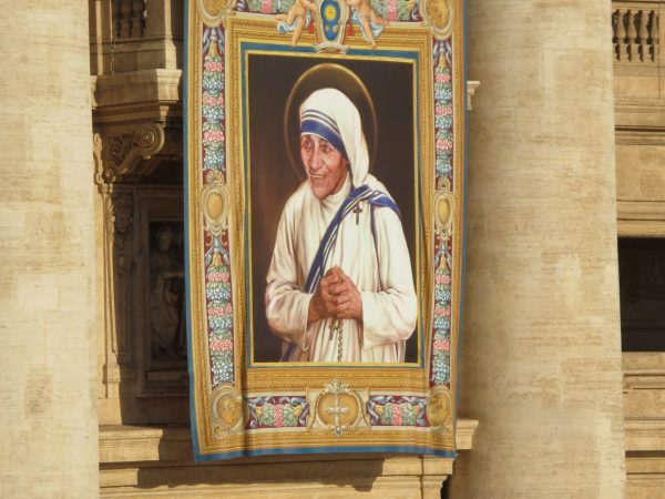 Banner of the saint on St. Peter's